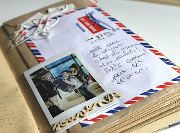 Carnet et enveloppe par avion de Ephéméria by MiniMlescrap