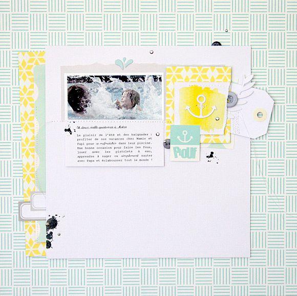 Dies, papiers et étiquettes 4h37, boutons et strass Ephéméria by Nécureuil