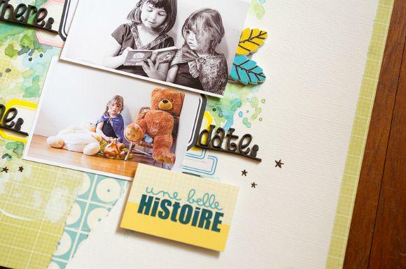Papiers et vignettes 4h37, étiquettes, bouton feuille, bulles cuir et peluche Ephéméria by Luckie