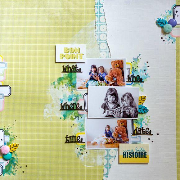 Papiers, stickers et vignettes 4h37, étiquettes, cardstock, boutons feuille, bulles de cuir et peluche Ephéméria by Luckie