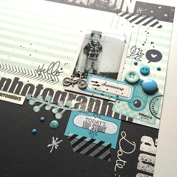 """Papier#03, vignettes, sticker collection """"Marronniers"""" de 4h37, pastilles, breloque, petites flèches noires, bulle de cuir Ephéméria by MiniMlescrap"""
