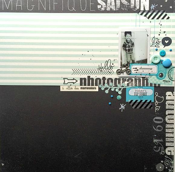 """Papier, vignettes, stickers collection """"Marronniers"""" de 4h37, pastilles, boutons et bulles de cuir Ephéméria by MiniMlescrap"""