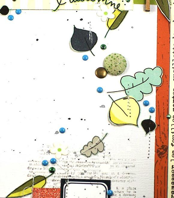 Papiers et vignettes 4h37, pastilles, bulles pailletées, cabochons, étiquette Ephéméria by Mag de Rose Anis