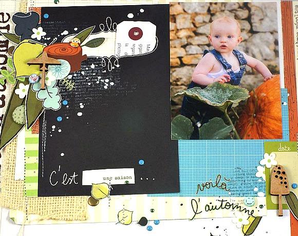 Papiers, vignettes 4h37, pastilles, cardstock, cabochons et bulles paillettées Ephéméria by Mag de Rose Anis