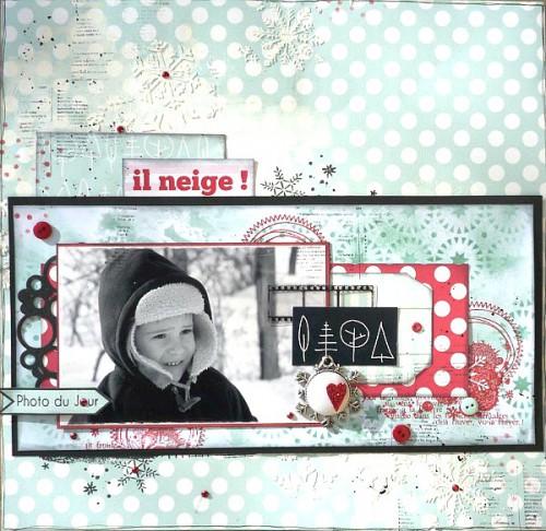 Collection rue des Epicéas de 4h37, tampons L'Encre & l'Image, porte cabochon, bulle de cuir, boutons et strass Ephéméria by Krismay