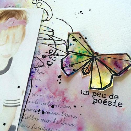 Tampons L'Encre & l'Image, papier et découpes 4h37, cardstock Ephéméria by Minimlescrap