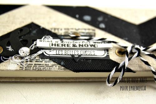 Carnet, galon adhésif, micro cabochon, twine et étiquette Ephéméria by Mag de Rose Anis