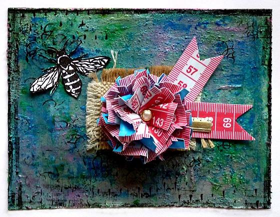 Tampons L'Encre & l'Image, mètre ruban, breloque, pastilles et jute Ephéméria by Corinne de France