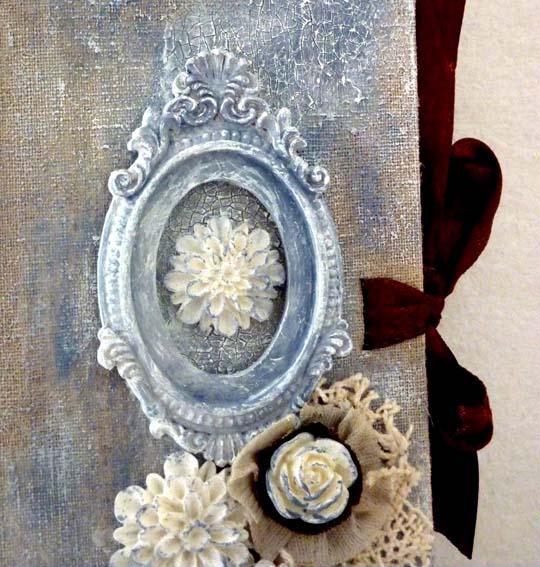 Carnet toilé Éphéméria Cadre et roses en résine Éphéméria . By March