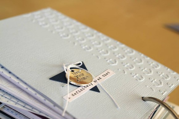Cardstocks et breloque Ephéméria by Laure Lemaur