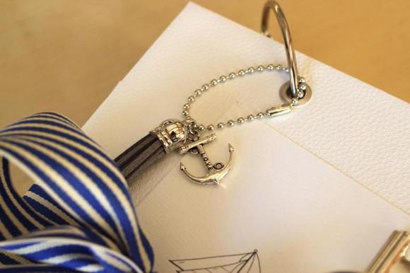 Chaînette boules, breloque et anneau Ephéméria by Laure Lemaur