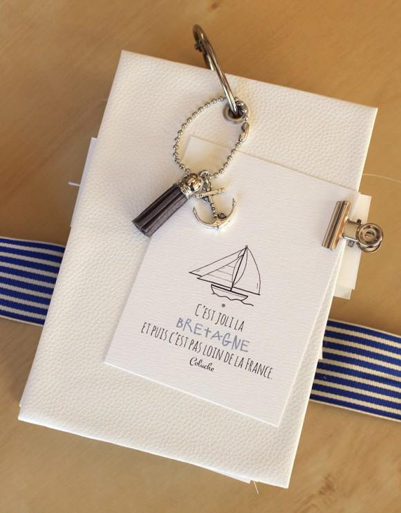 Cardstocks, pince argentée, anneau de reliure, chaînette et breloques Ephéméria by Laure Lemaur
