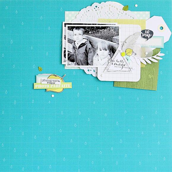 Papiers, matrice de découpe et vignettes 4h37, boutons et brads Ephéméria by Nécureuil