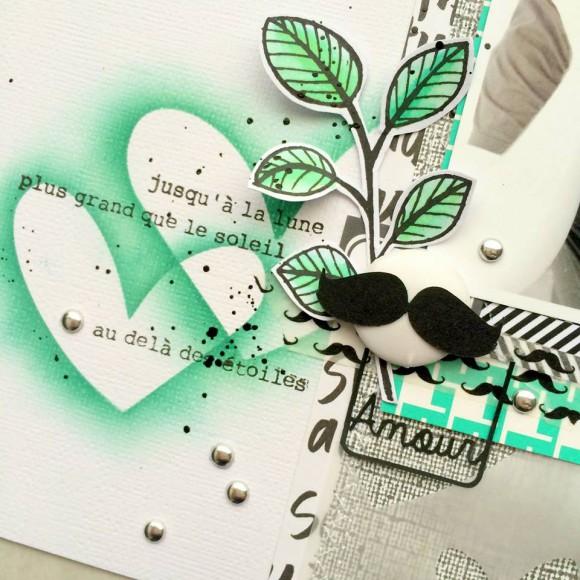 Tampons L'Encre & l'Image, papiers et pastilles argentées Ephéméria by Tribucosta