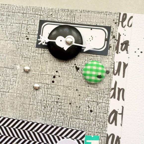 Tampons L'Encre & l'Image, papiers, bulles cuir et tissu, étiquette noire, pastilles argentées Ephéméria by Tribucosta