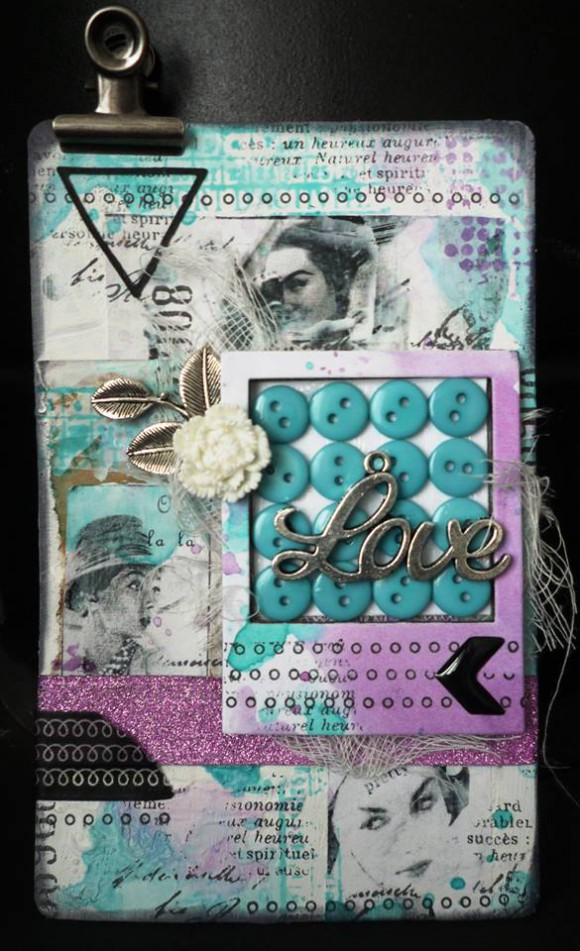 Breloques, fleurs résine, masking tape, enamel dots, boutons et pince Ephéméria by Krismay