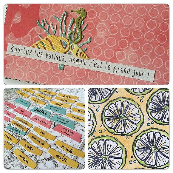 Papiers et tampons L'Encre & l'Image chez Ephéméria by Céline Féebelle