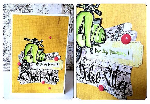 Papiers et tampons L'Encre & l'Image et dots Ephéméria by Céline Féebelle