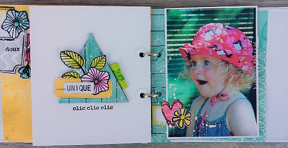 Papiers et tampons L'Encre & l'Image, étiquettes et enamel dots Ephéméria by Cricri04