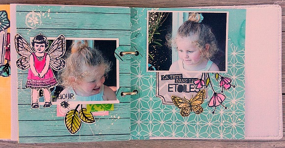 Tampons et papiers L'Encre & l'Image, étiquettes, boutons dots et ruban Ephéméria by Cricri04