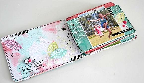 Papiers L'Encre & l'Image, encreurs Dye Aladine, cardstock, enamel dots, chaînette et breloque Ephéméria by Mackenzie