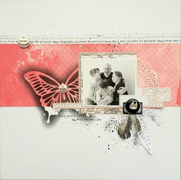 Papiers et tampons Papiers et tampons L'Encre & l'Image, breloques, bulle cuir et cardstock Ephéméria by Tribucosta