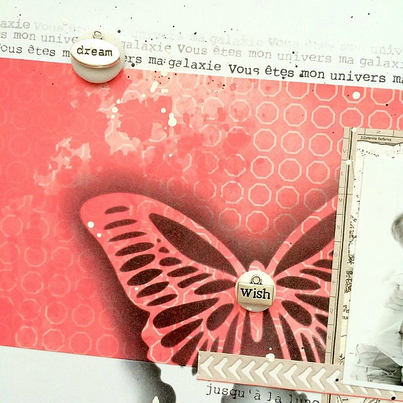 Papiers et tampons L'Encre & l'Image, breloques, bulle cuir et cardstock Ephéméria by Tribucosta
