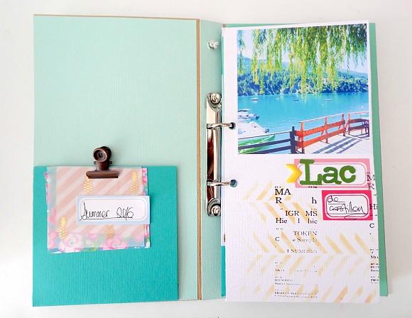 Papiers, fleurs résine, chaînette, breloques, étiquettes, bulles tissu et enamel Ephéméria by Soraya