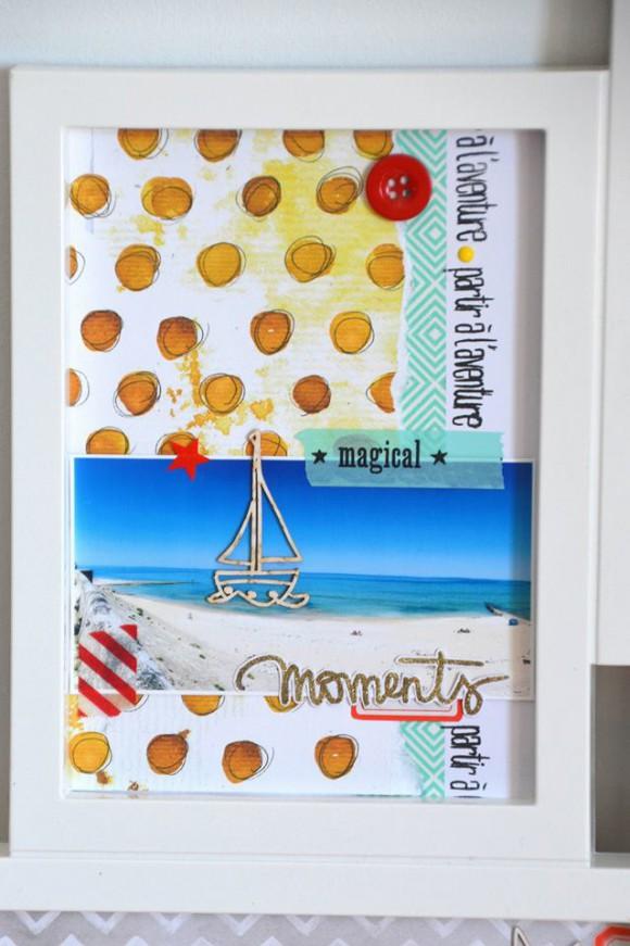 Papiers L'Encre & l'Image, 4h37, tampons L'Encre & l'Image, bouton et enamel Ephéméria by Marie Gamiz