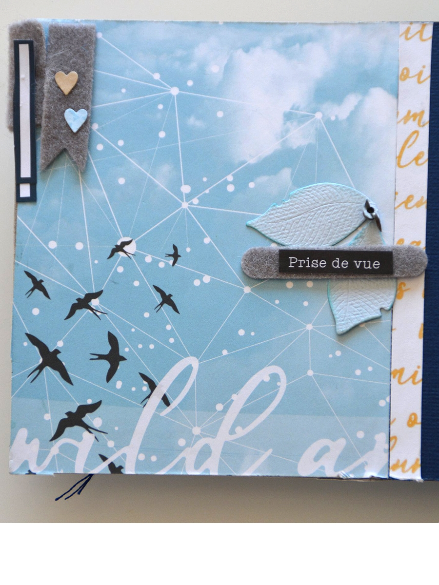 mini album scrapbooking ephemeria by Gisele