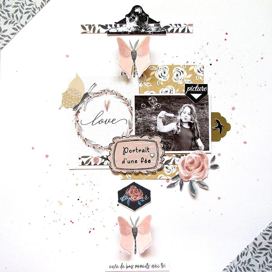page scrapbooking by Jasmina éphéméria
