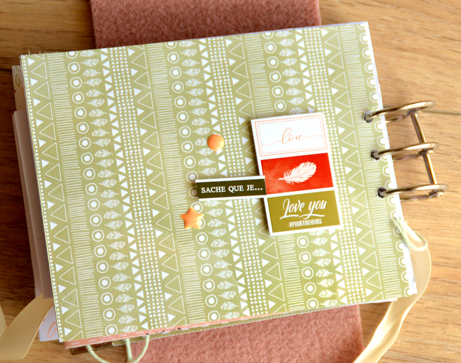 mini album scrapbooking éphéméria by Gisèle