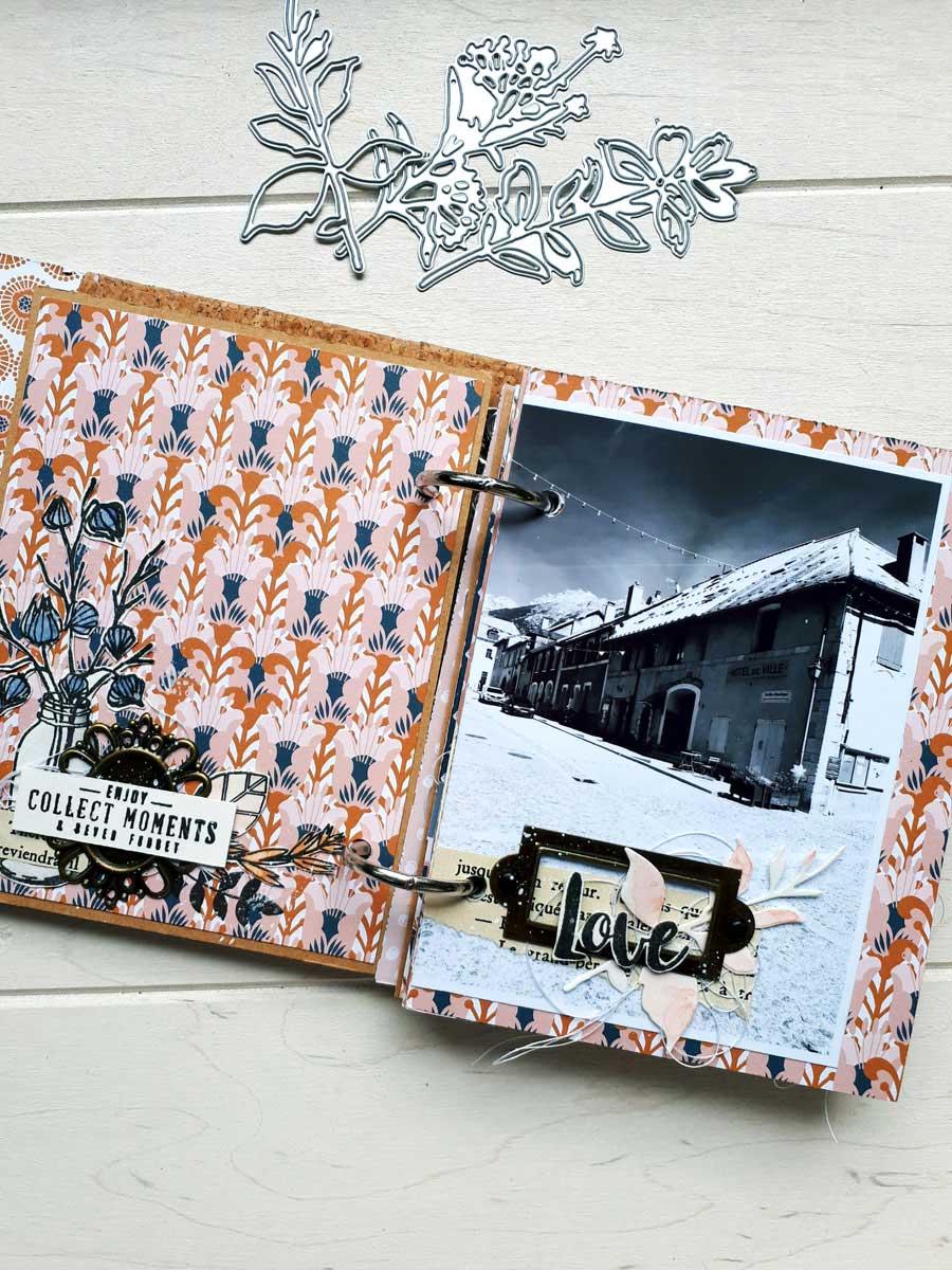 mini album scrapbooking éphéméria by Cricri