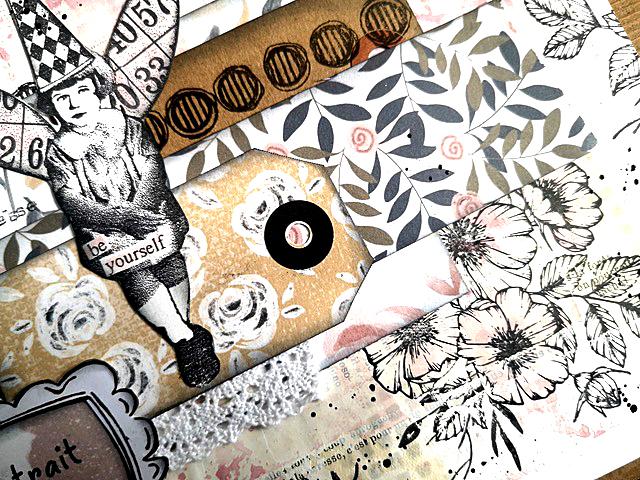 page scrapbooking éphéméria by Kris
