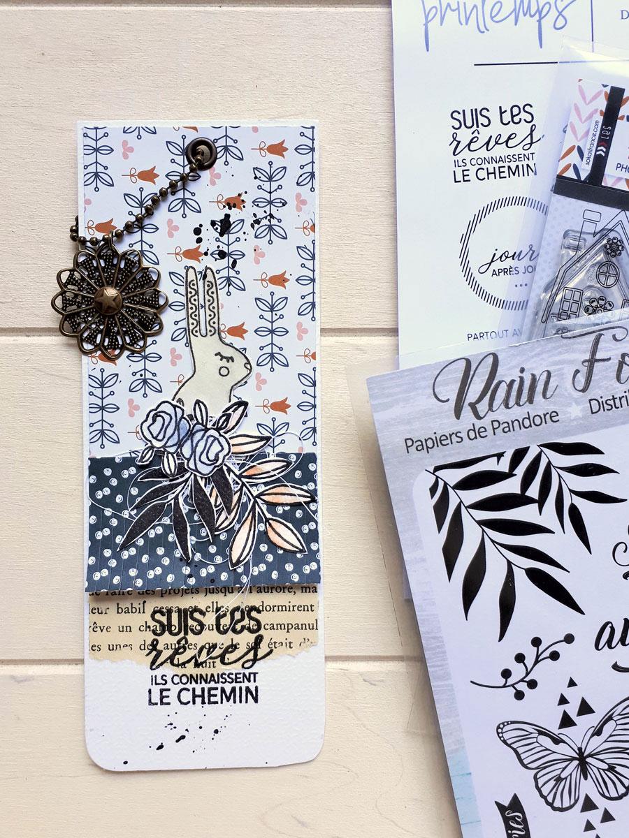marque page scrapbooking by Cricri pour éphéméria