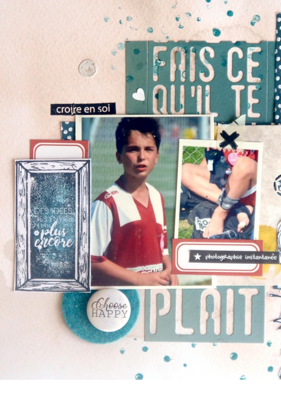 Page scrapbooking by Gisèle pour éphéméria