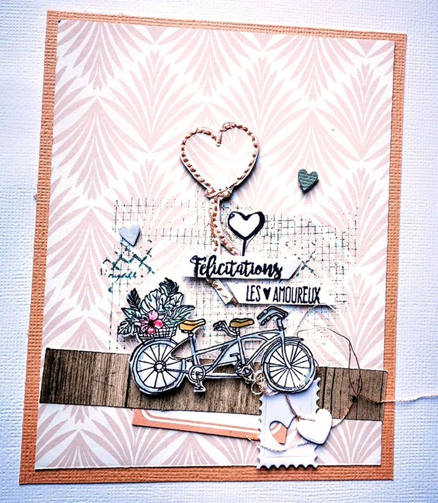 carte scrapbooking by Gisèle pour éphéméria