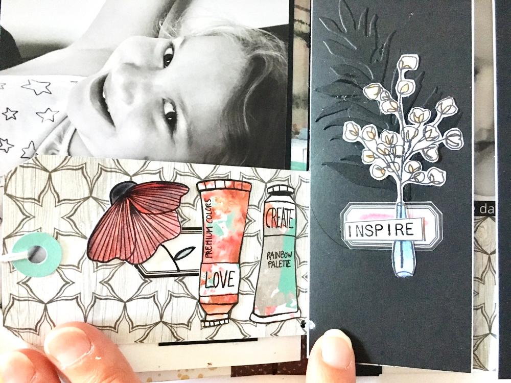 Mini album scrapbooking by Jasmina pour éphéméria