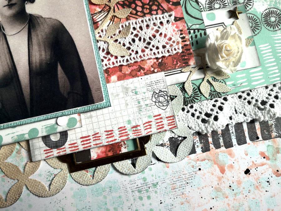 Page scrapboking by Kris pour éphéméria