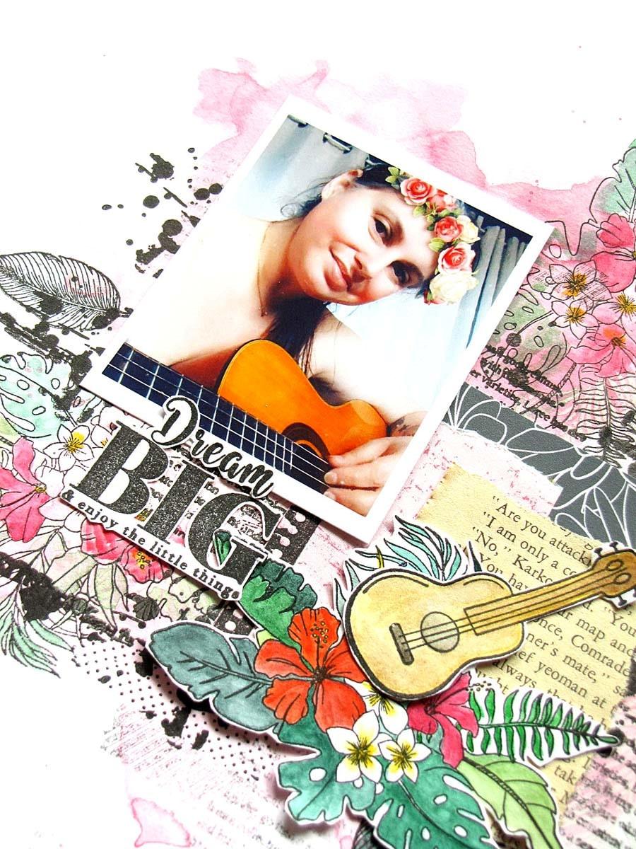 Page scrapbooking by Jasmina pour éphéméria