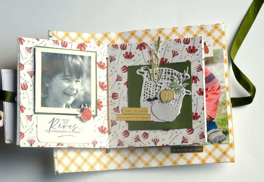 Mini album scrapbooking by Gisele pour éphéméria
