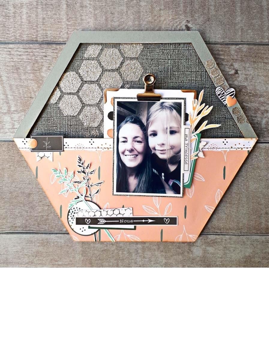 Home déco by Emilie (cadre hexagonal) pour éphéméria