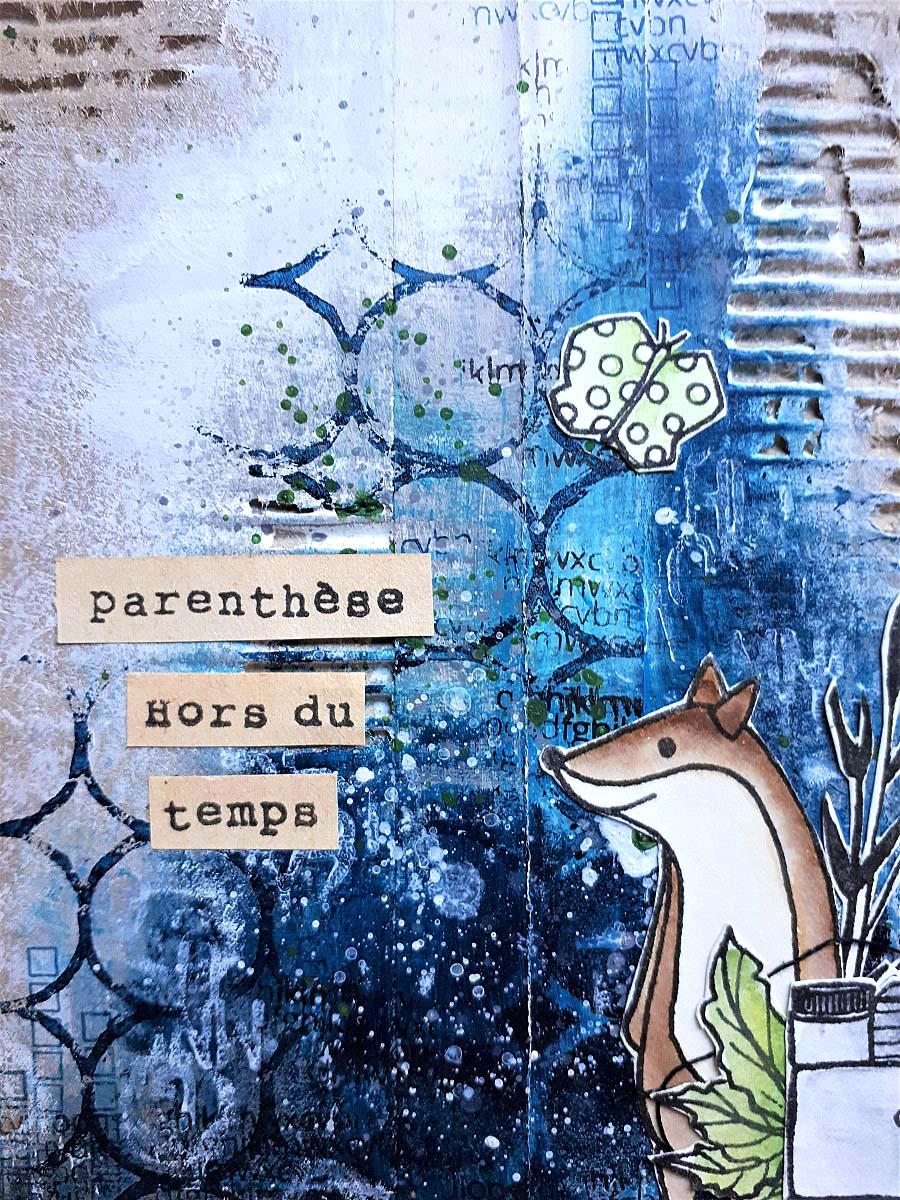 mini-album art journal by cricri pour éphéméria