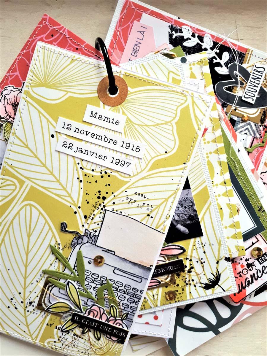 Mini album scrapbooking by Cricri pour éphéméria