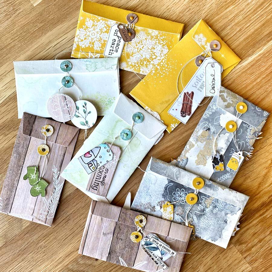 saga des emballages craquants : enveloppes par Fred pour éphéméria