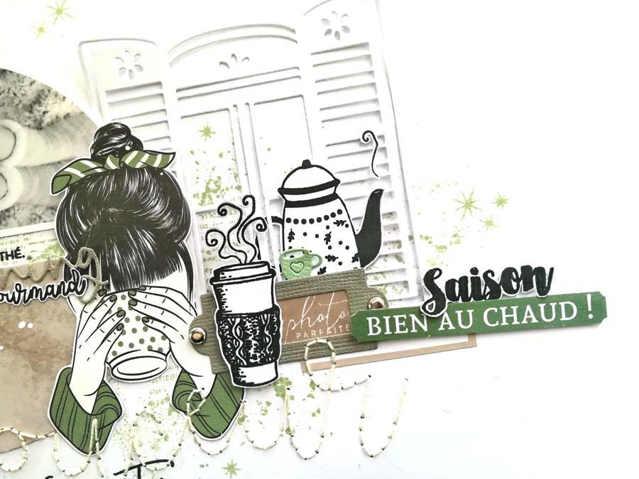 Page de scrapbooking by Flore pour éphéméria