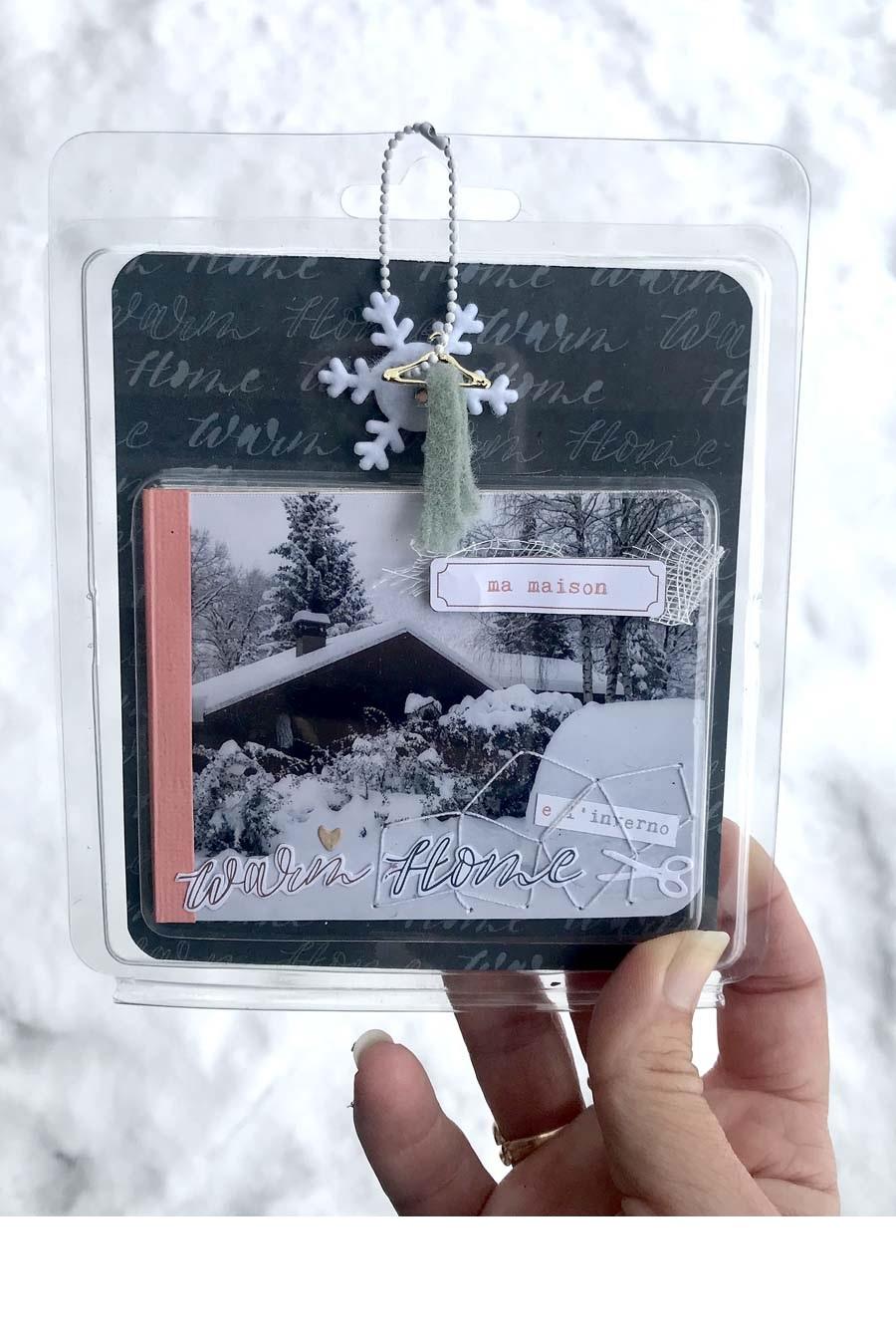 couverture du mini album hiver en scrapbooking by Vava pour éphéméria