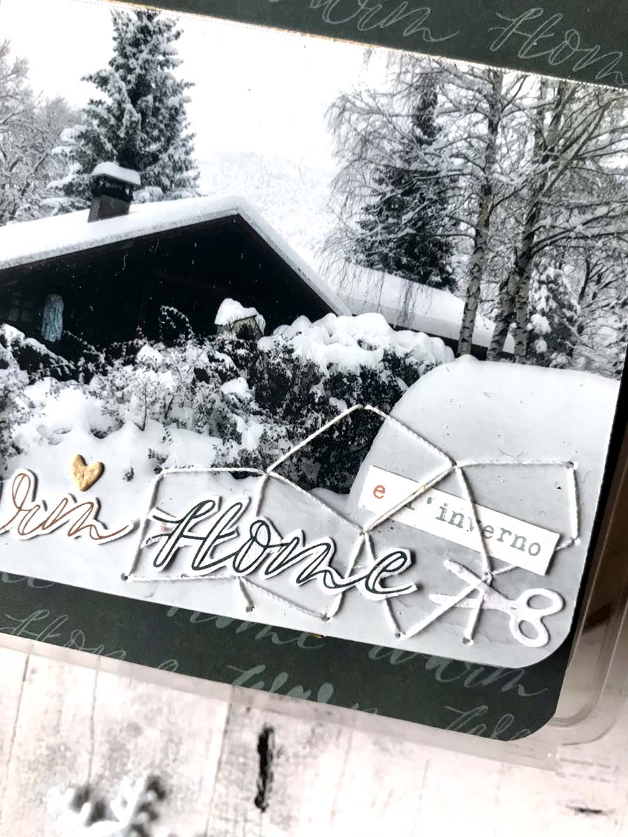 mini album hiver en scrapbooking by Vava pour éphéméria