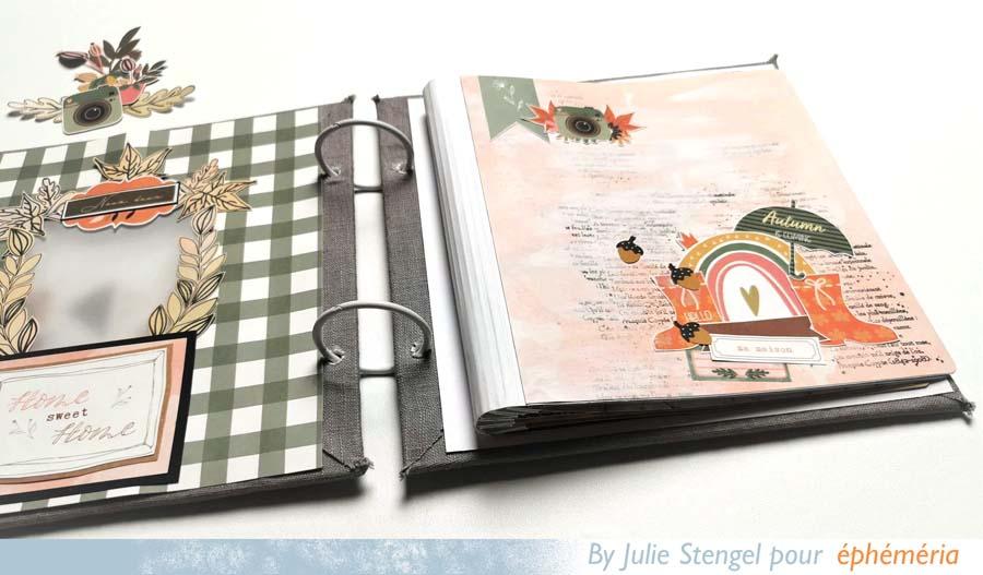 Mini album scrapbooking par Julie