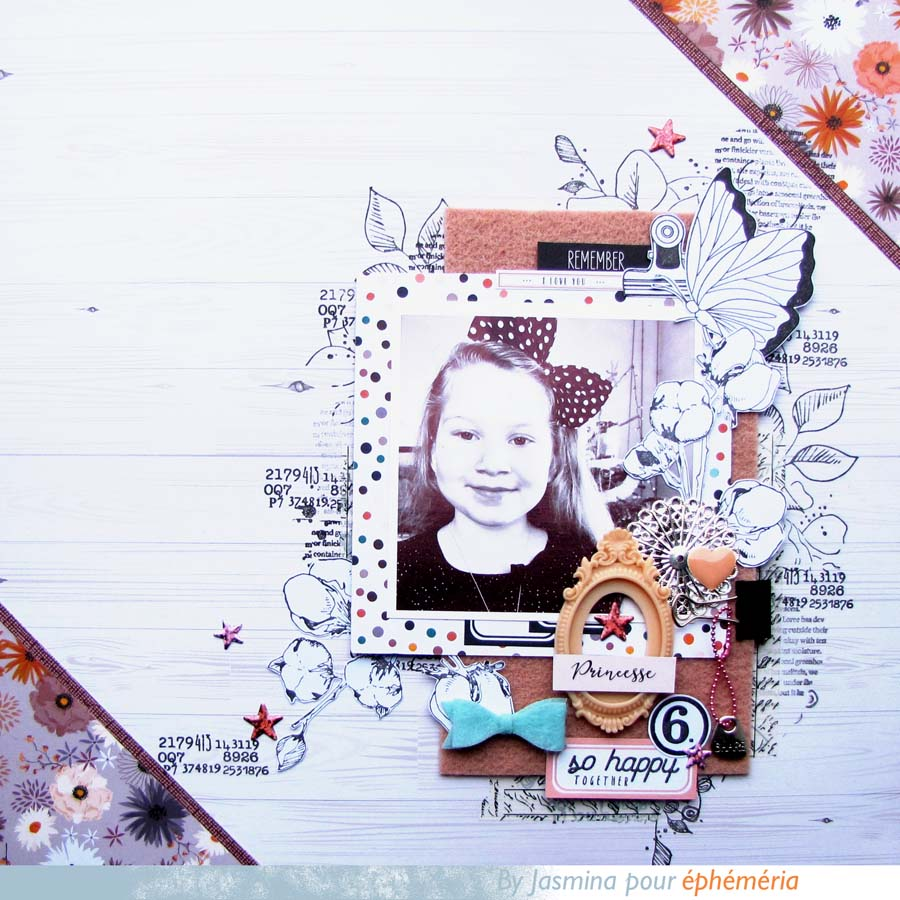 Page scrapbooking par Jas pour éphéméria, collection So BB